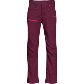 Bergans Lilletind LT Softshell Pants Kids beet red/raspberry